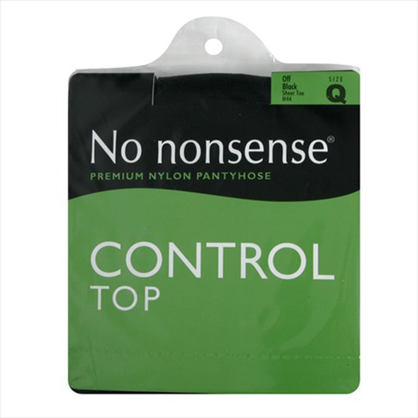 Control Top Panty Hose, Off Black, Q1 - 1 Pkg