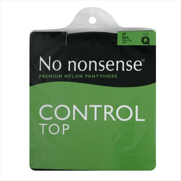 Control Top Panty Hose, Off Black, Q1 - 1 Pkg