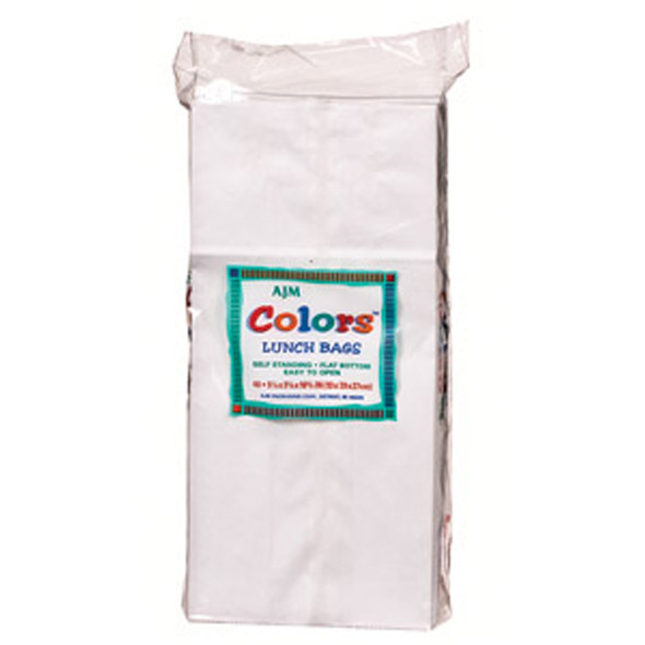 Lunch Bag, White, 40 Ct - 1 Pkg