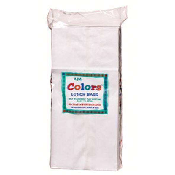 Lunch Bag, White, 40 Ct - 1 Pkg