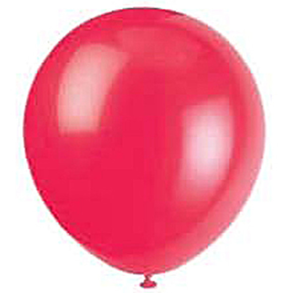 "Balloon, Ruby Red, 9"" - 1 Pkg"