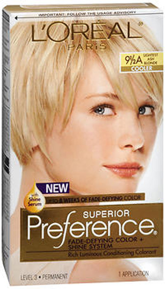 L'Oreal Superior Preference - 9-1/2A Lightest Ash Blonde (Cooler)