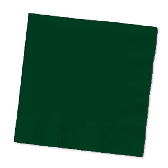Solid Color Beverage Napkin, Emerald Green, 50 Ct - 1 Pkg