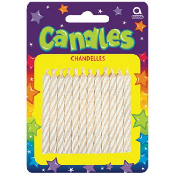 "Spiral Candles, White, 2.5"" - 1 Pkg"