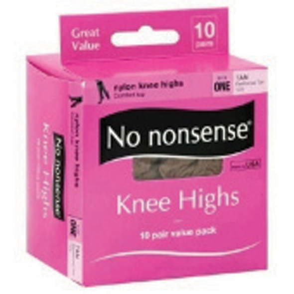 No Nonsense Knee Highs, Tan, One Size - 1 Box