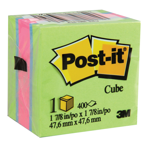 "Post-It Note Cube, Ultra Collection-Flo, 2X2"" - 6 Pkg"