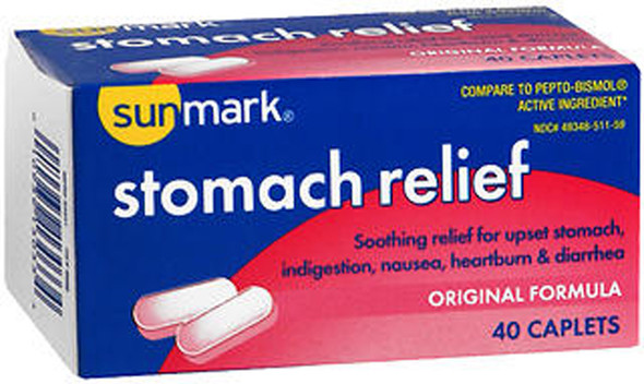 Sunmark Stomach Relief Caplets Original  40 ct