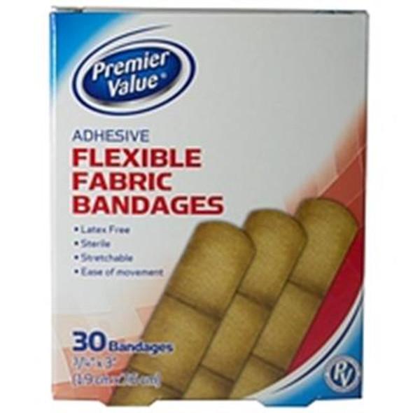 Premier Value Flex Fabric Bandage 3/4X3 - 30ct