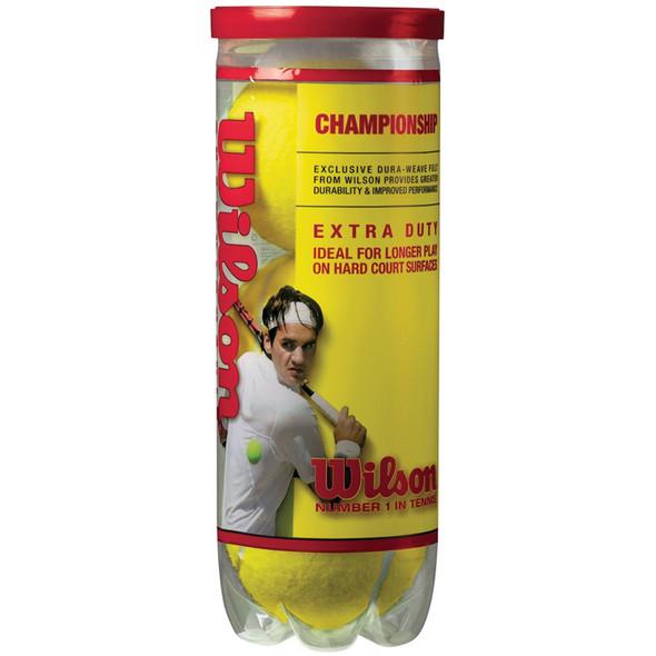 Championship Extra Duty Tennis Balls, Yellow, 3 Ct - 1 Pkg