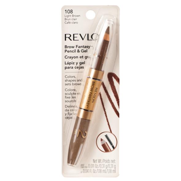 Revlon Brow Fantasy Eye Pencil And Gel, Light Brown  - Each