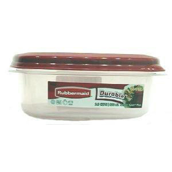 Rubbermaid Ez Find Lid Container, Chili Color Lid,  1.5 Gal - 1 Pkg