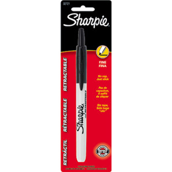 Sharpie Retractable Permanent Marker, Black, 1Ct. - 1 Pkg