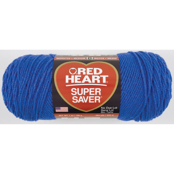E300 Super Saver Yarn, Blue, 7 oz - 3 Packs