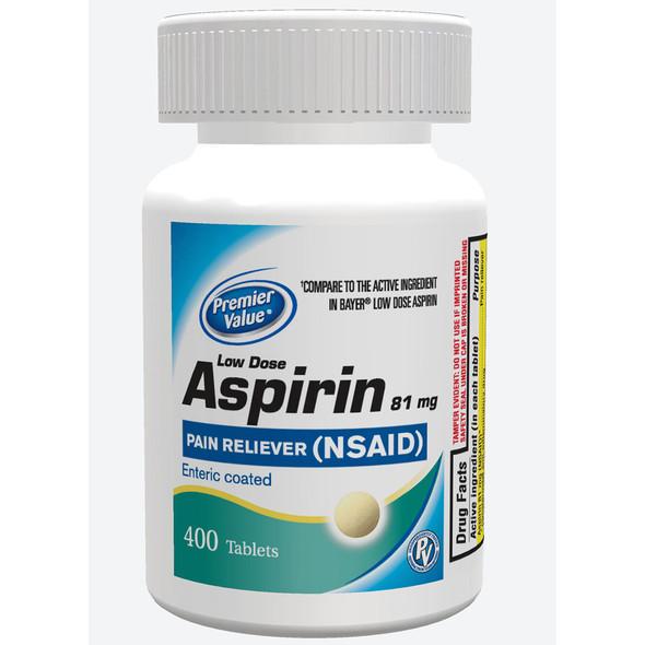 Premier Value Enteric Coat Aspirin Lo Dose 81Mg - 400ct