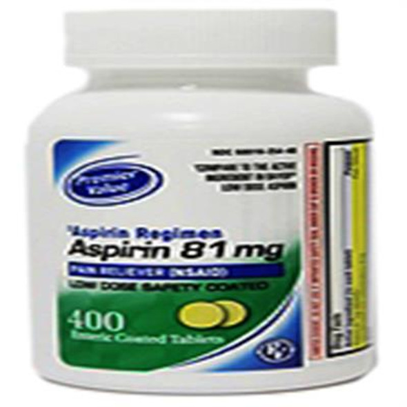 Premier Value Enteric Coat Aspirin Lo Dose 81Mg - 400ct
