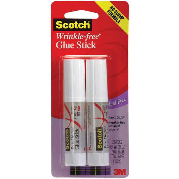 Wrinkle-Free Glue Stick Adhesive, .27 oz Ea. - 1 Pkg