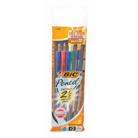 Mechanical Pencil 5pk, Black - .5mm