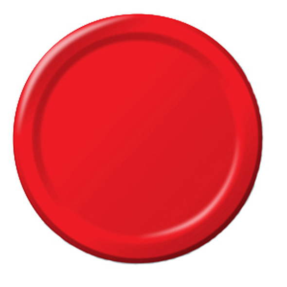 "Solid Color Luncheon Plate, Classic Red, 7"" - 1 Pkg"