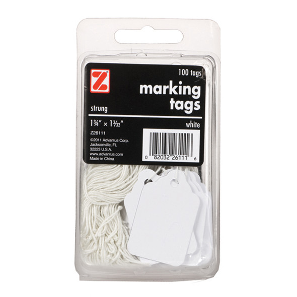 Marking Tags, White, 100Ct. - 2 Pkgs