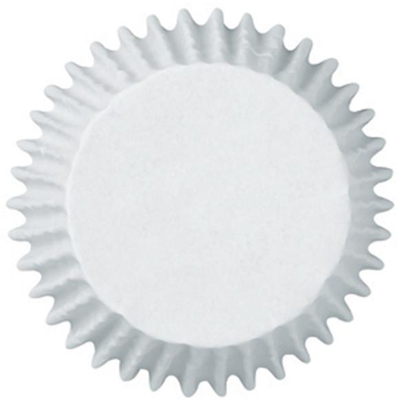"Jumbo Muffin Baking Cups, White, 2 1/4"" Dia - 1 Pkg"