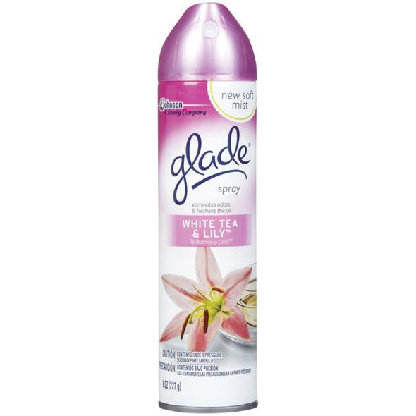 Glade Air Freshener, White Tea & Lily, 8 oz - 1 Pkg