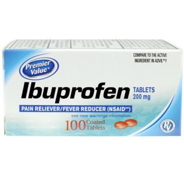 Premier Value Ibuprofen Tablets - 100ct