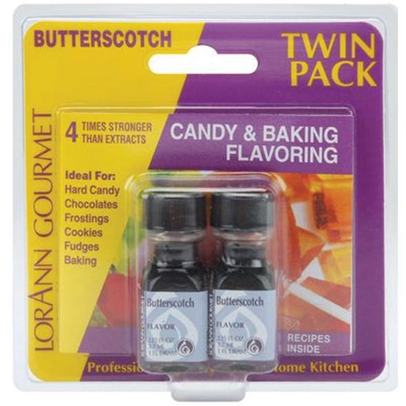Twin Pack Flavoring Oils, Candy/Baking, Butterscotch, 2X.125 - 1 Pkg
