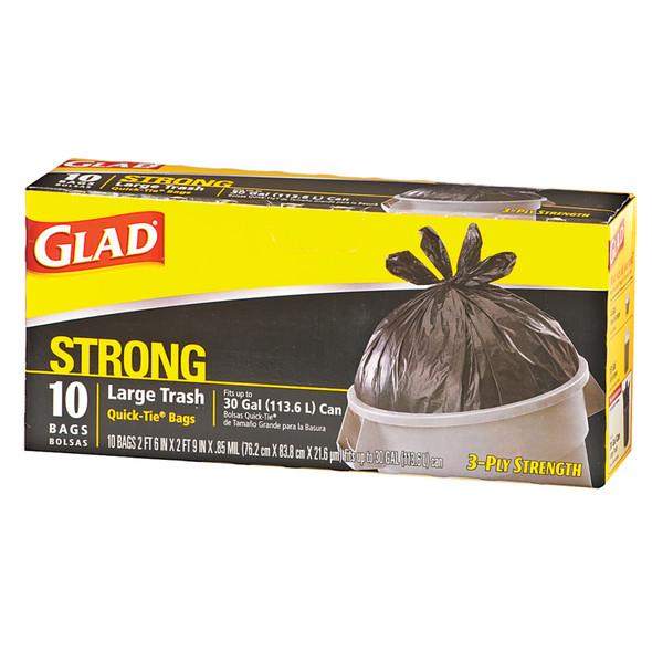Glad Quick-Tie Large Lawn & Garden Garbage Bags, 30 Gal - 1 Pkg