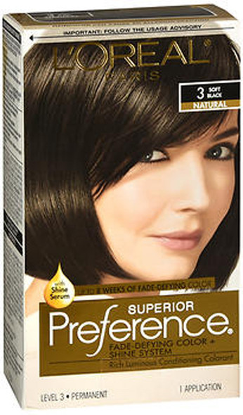 L'Oreal Superior Preference - 3 Soft Black (Natural)