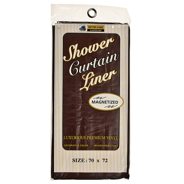 "Vinyl Shower Curtain Chocolate, Chocolate, 70""X72"" - 1 Pkg"