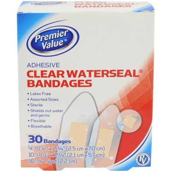 Premier Value Clear Waterseal Asst Sizes - 30ct