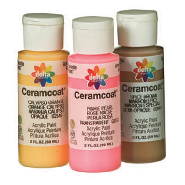 Ceramcoat Acrylic Paint, Black, 2 oz - 1 Pkg