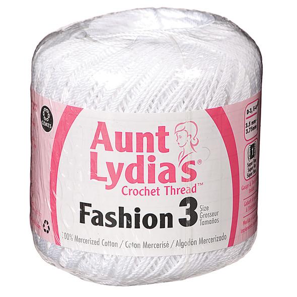 Aunt Lydia Fashion Crochet Thread, White, 150 Yds. - 3 Pkgs