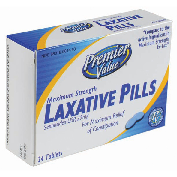Premier Value Laxative Tabs Max Strength - 24ct