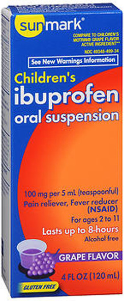 Sunmark Children's Ibuprofen Oral Suspension Grape - 4 oz