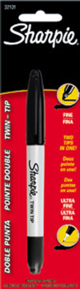 Sharpie Twin Tip Marker, Black, 1Ct. - 1 Pkg