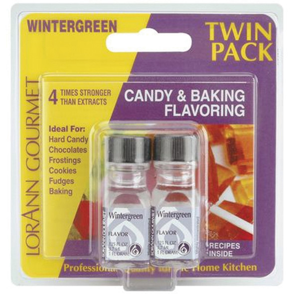 Twin Pack Flavoring Oils, Candy/Baking, Wintergreen, 2X.125 - 1 Pkg