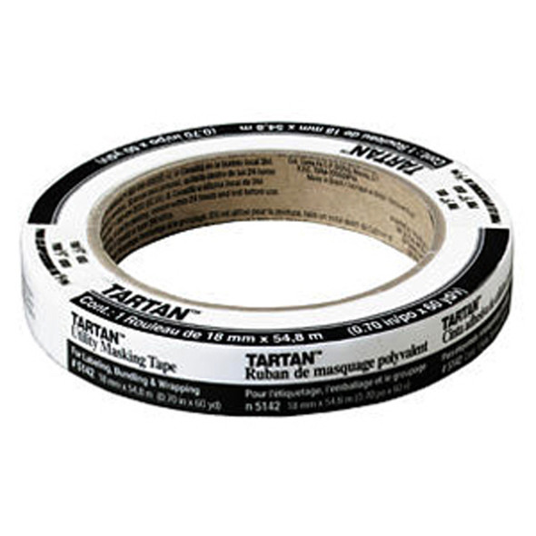 "Tartan General Purpose Masking Tape, .70""X60' -1 Roll"