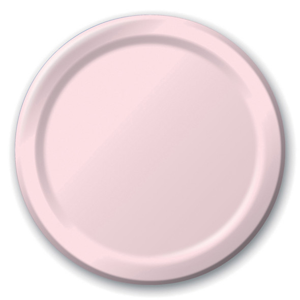 "Solid Color Luncheon Plate, Classic Pink, 7"" - 1 Pkg"