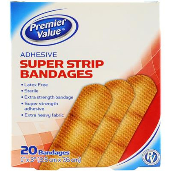 """Premier Value Strong Strips 1"""" - 20ct"""