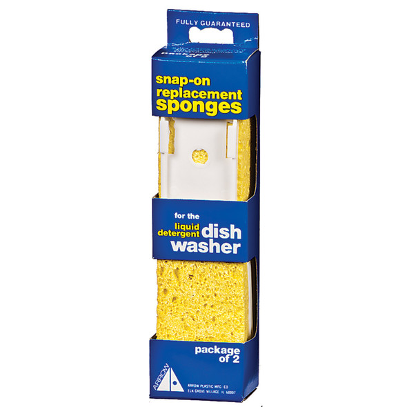 Arrow Dishwasher Replacement Sponge, Yellow - 2 ct