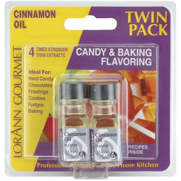 Twin Pack Flavoring Oils, Candy/Baking, Cinnamon, 2X.125 - 1 Pkg