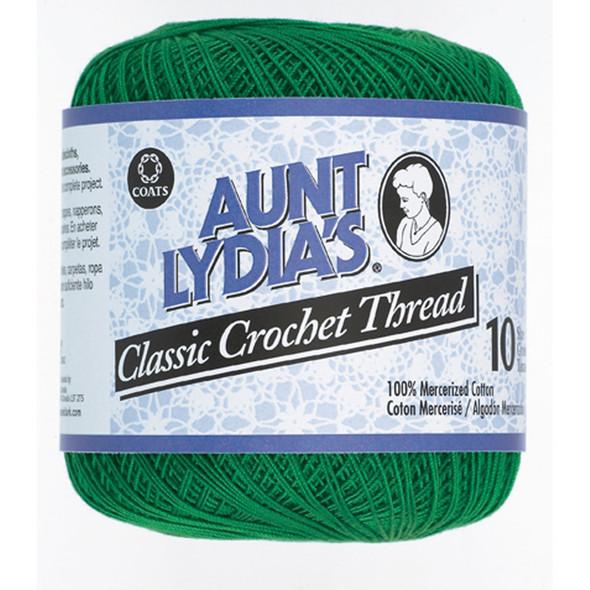 Aunt Lydia's Classic Crochet Thread, Myrtle Green, 350 Yds. - 3 Pkgs