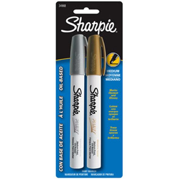 Gold/Silver Medium Marker, Gold/Silver, Medium - 1 Pkg