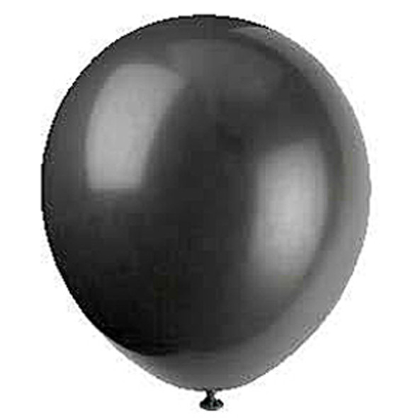 "Balloon, Jet Black, 12"" - 1 Pkg"