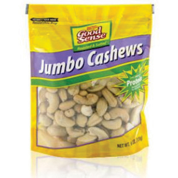 Cashews Roasted Salted Jumbo Snacks, 6 oz - 1 Bag
