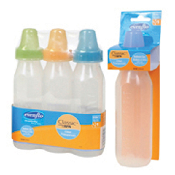 Clear Bottles, Clear, 8 oz - 1 Pkg