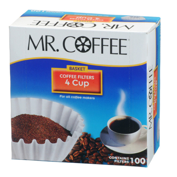 Mr. Coffee, 4 Cup Filters, 100 Ct - 1 Box