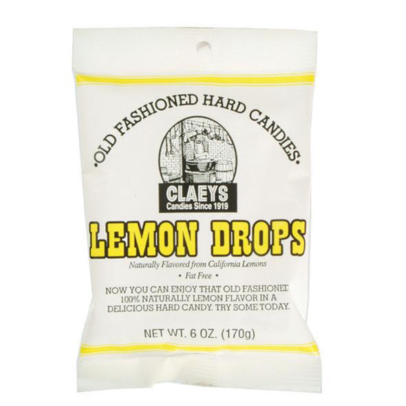 Claeys Lemon Candies, Lemon, 6oz  - Each