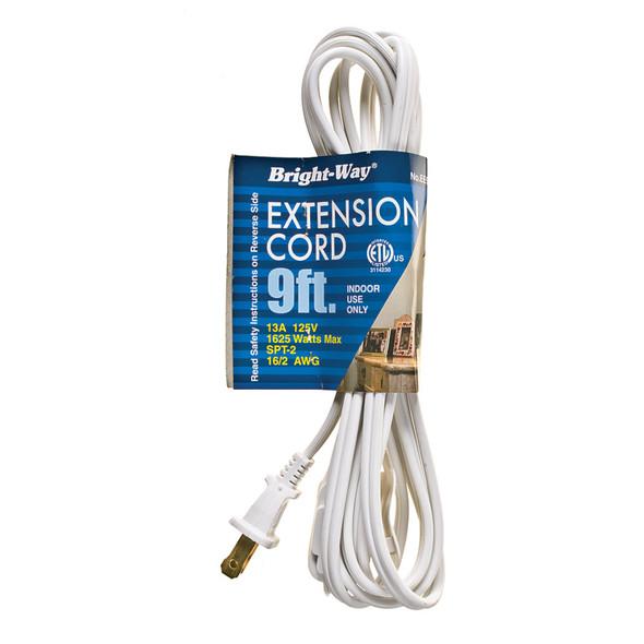 Extension Cord 9', White - 1 Pkg